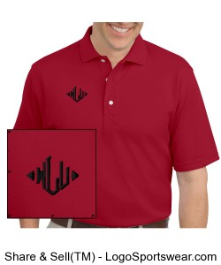 Wrestling Life Unlimited (Red / Black) Polo Style Shirt Design Zoom